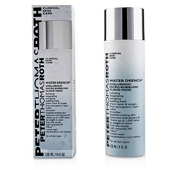 PETER THOMAS ROTH WATER DRENCH HYALURONIC MICRO-BUBBLING CLOUD MASK  120ML/4OZ