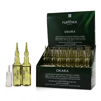 RENE FURTERER OKARA COLOR AND TONE RADIANCE RITUAL COLOR-BINDING OIL (COLOR TREATMENTS, HIGHLIGHTS, BLEACHED HAIR)  24X10ML/0.33OZ