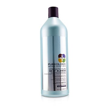 PUREOLOGY STRENGTH CURE BEST BLONDE SHAMPOO (TONING AND ANTI-BRASSINESS FOR COLOUR-TREATED HAIR)  1000ML/34OZ