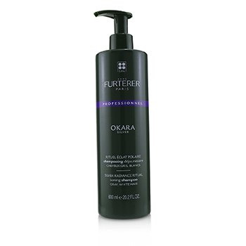RENE FURTERER OKARA SILVER SILVER RADIANCE RITUAL TONING SHAMPOO - GRAY, WHITE HAIR (SALON PRODUCT)  600ML/20.2OZ