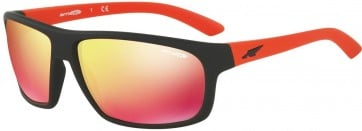 ARNETTE BURNOUT AN4225 23766Q FUZZY BLACK 64MM RED MULTILAYER SUNGLASSES 