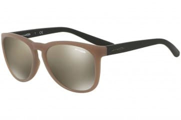 ARNETTE GO TIME AN4227 23845A MATTE TAUPE 57MM LIGHT BROWN MIRRORED DARK GOLD SUNGLASSES 