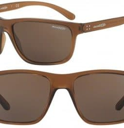 ARNETTE BOOGER SUNGLASSES AN4234 247473 TRANSPARENT BROWN 61MM 
