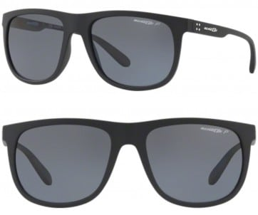 ARNETTE CROOKED GRIND POLARIZED SUNGLASSES AN4235 01/81 POLAR GREY 56MM 