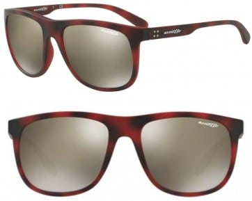 ARNETTE CROOKED GRIND SUNGLASSES AN4235 24635A DARK BROWN RED HAVANA 56MM 