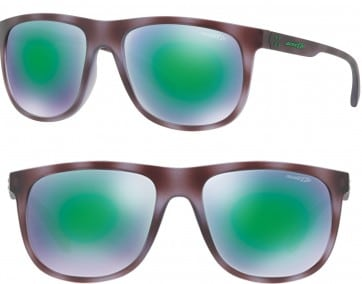 ARNETTE CROOKED GRIND POLARIZED SUNGLASSES AN4235 24663R MIRROR GREEN 56MM 