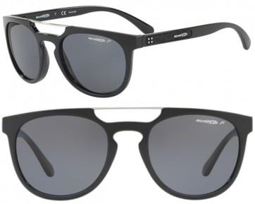 ARNETTE WOODWARD POLARIZED SUNGLASSES AN4237 41/81 BLACK 52MM 