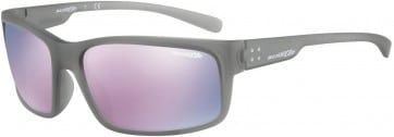 ARNETTE FASTBALL 2.0 AN4242 24235R MATTE TRANSPARENT GREY 62MM DARK GREY/MIRRORED PINK SUNGLASSES 