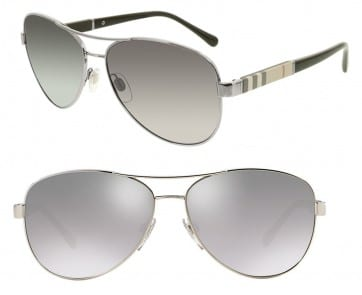 BURBERRY BE3080 SUNGLASSES BE3080 1003T3 GREY POLARIZED 59MM 