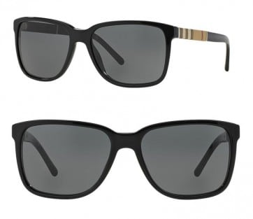 BURBERRY BE4181 300187 BLACK GREY MEN'S SUNGLASSES 58MM 