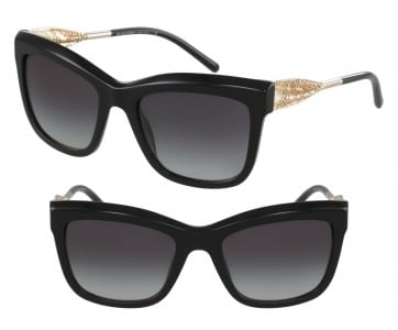 BURBERRY GABARDINE LACE COLLECTION SQUARE SUNGLASSES BE4207 30018G BLACK 56MM 