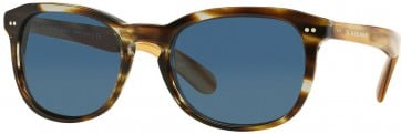 BURBERRY BE4214 355180 BROWN BUTTERFLY 55MM BLUE SUNGLASSES 