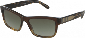 BURBERRY BE4225 35988E BROWN 57MM GREEN GRADIENT SUNGLASSES 