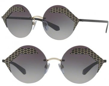 BVLGARI ITALY SUNGLASSES BV6089 20134Z GRADUATED GREY LENS 55MM 