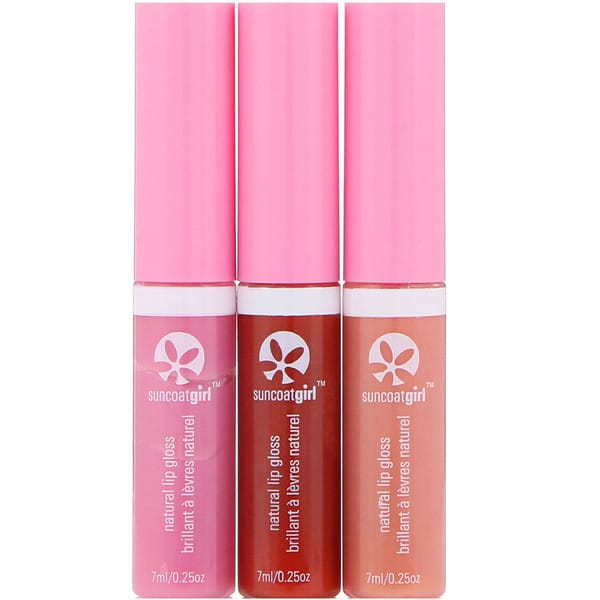 SuncoatGirl, All Natural Lip Gloss, 3 Piece Set, 0.23 oz (7 ml) Each
