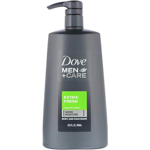 Dove, Men+Care, Body and Face Wash, Extra Fresh, 23.5 fl oz (694 ml)