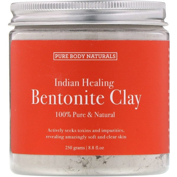 Pure Body Naturals, Indian Healing Bentonite Clay, 8.8 fl oz (250 g)