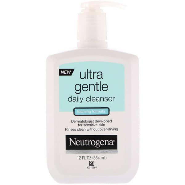 Neutrogena, Ultra Gentle, Daily Cleanser, Foaming Formula, 12 fl oz (354 ml)