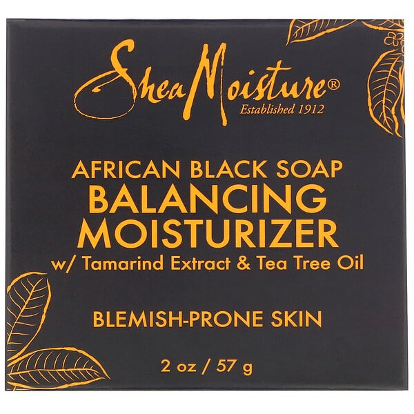 SheaMoisture, African Black Soap, Balancing Moisturizer, 2 oz (57 g)