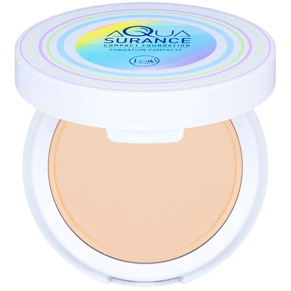 J.Cat Beauty, Aquasurance Compact Foundation, ACF100 Porcelain, 0.31 oz (9 g)