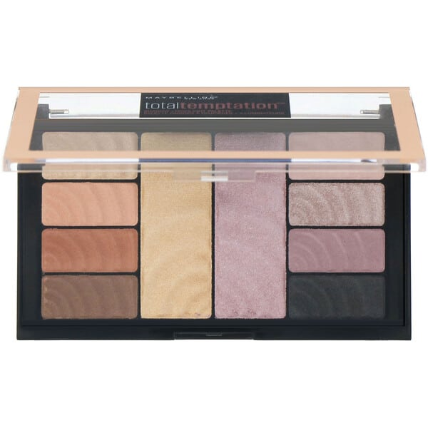 Maybelline, Total Temptation, Eyeshadow + Highlight Palette, 0.42 oz (12 g)