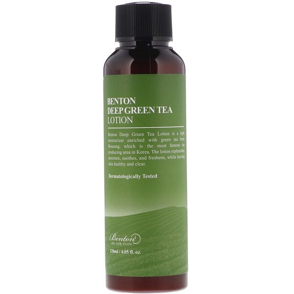 Benton, Deep Green Tea Lotion, 4.05 fl oz (120 ml)