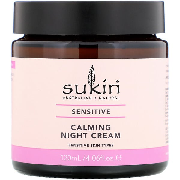 Sukin, Calming Night Cream, Sensitive, 4.06 fl oz (120 ml)