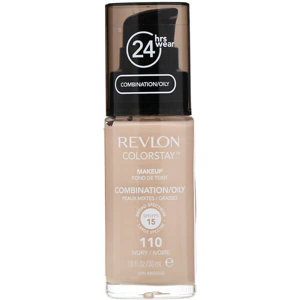 Revlon, Colorstay, Makeup, Combination/Oily, 110 Ivory, 1 fl oz (30 ml)