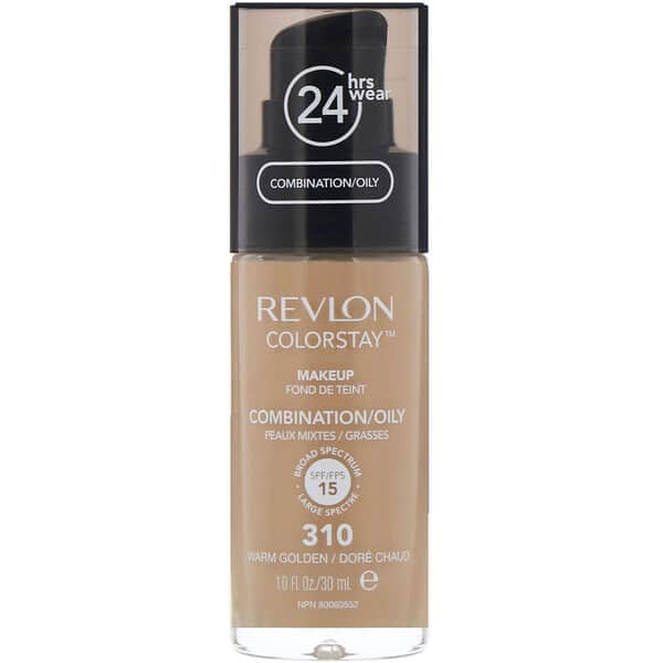 Revlon, Colorstay, Makeup, Combination/Oily, 310 Warm Golden, 1 fl oz (30 ml)