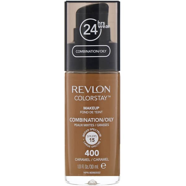 Revlon, Colorstay, Makeup, Combination/Oily, 400 Caramel, 1 fl oz (30 ml)