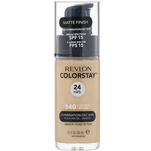 Revlon, Colorstay, Makeup, Combination/Oily Skin, 140 Oatmeal, 1 fl oz (30 ml)