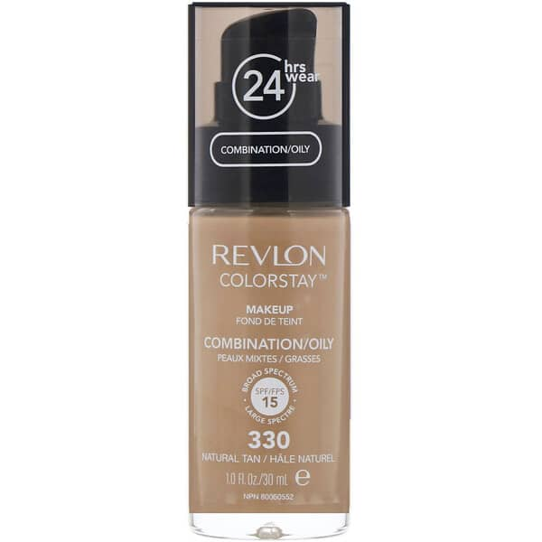 Revlon, Colorstay, Makeup, Combination/Oily, 330 Natural Tan, 1 fl oz (30 ml)