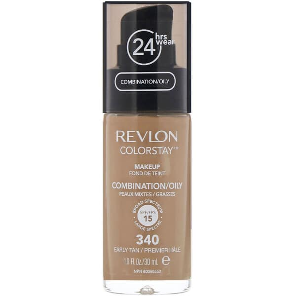 Revlon, Colorstay, Makeup, Combination/Oily, 340 Early Tan, 1 fl oz (30 ml)