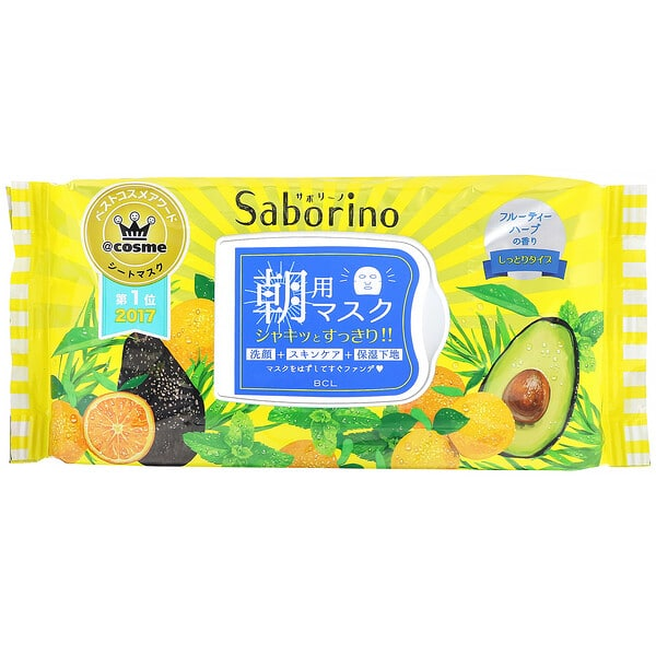 Saborino, Morning Face Mask, 32 Sheets, 304 ml
