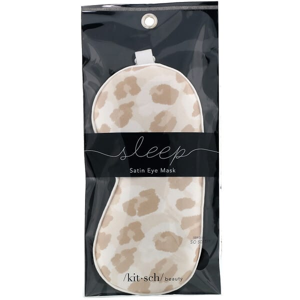Kitsch, Satin Eye Mask, Leopard, 1 Eye Mask