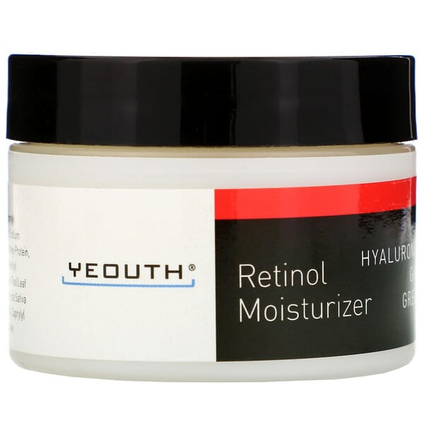 Yeouth, Retinol Moisturizer, Hyaluronic Acid, Ginseng, Green Tea, 1 fl oz (30 ml)
