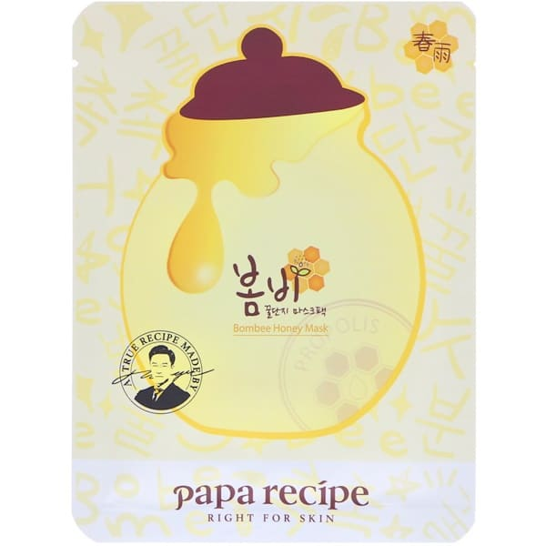 Papa Recipe, Bombee Honey Mask Pack, 10 Sheets, 25 g Each