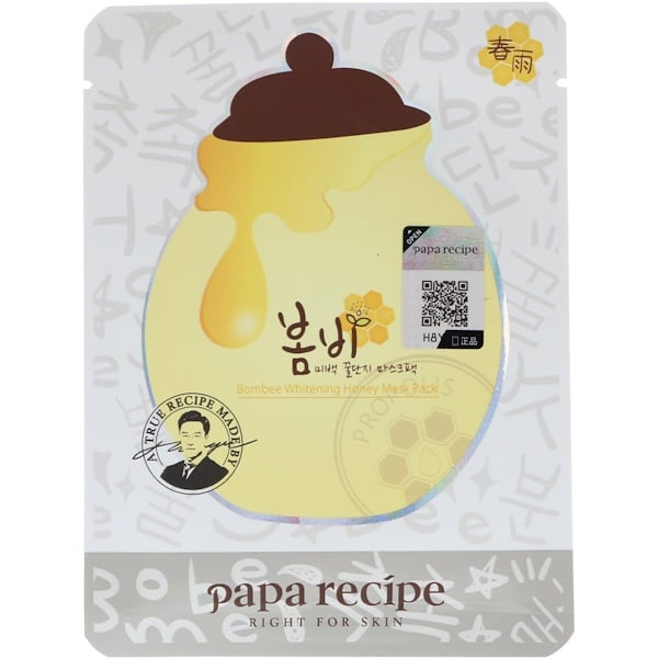 Papa Recipe, Bombee Whitening Honey Mask Pack, 10 Sheets, 25 g Each
