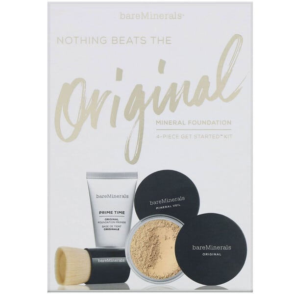 bareMinerals, Nothing Beats the Original Mineral Foundation, 4 Piece Get Started Kit, Golden Ivory 07, 1 Kit