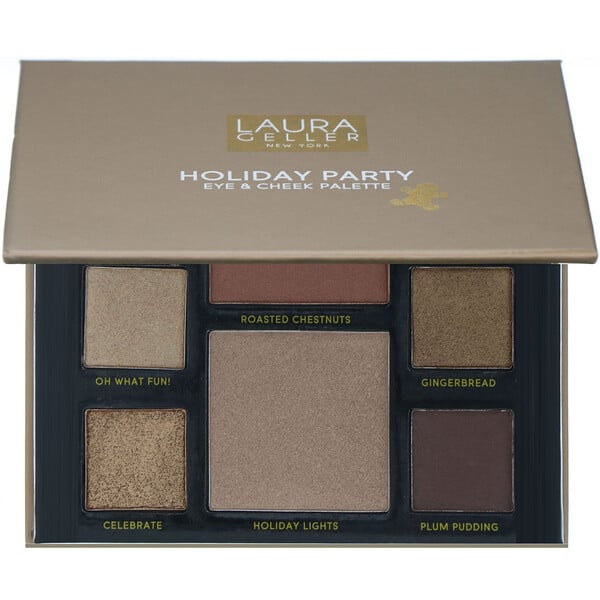 Laura Geller, Party in a Palette, Full Face Palette Collection, 3 Eye + Cheek Palettes