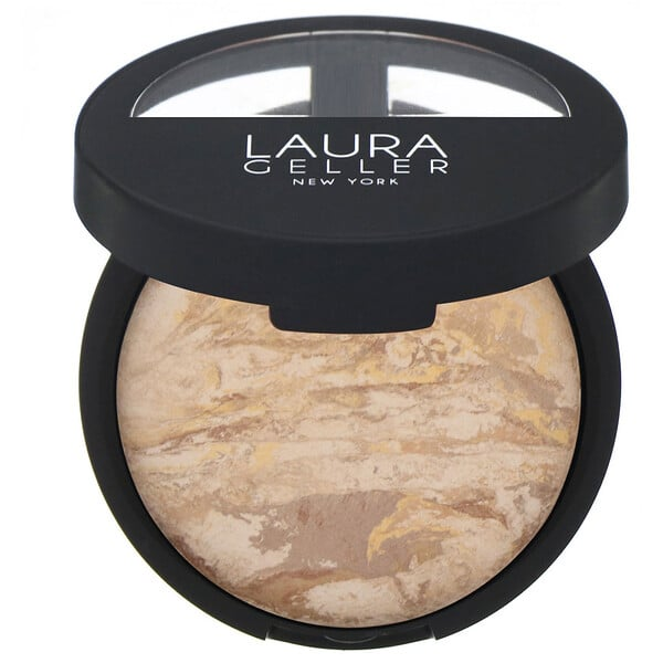 Laura Geller, Baked Balance-N-Brighten, Color Correcting Foundation, Medium, 0.32 oz (9 g)
