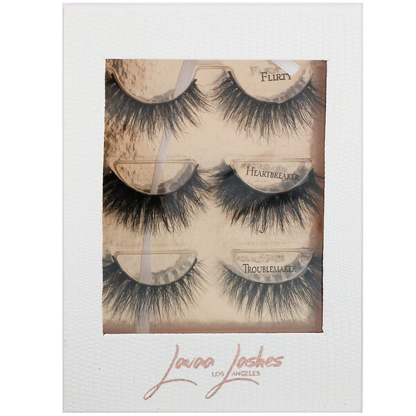 Lavaa Lashes, The 3 Besties, False Eyelashes Set, 1 Set