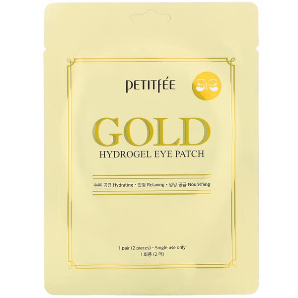 Petitfee, Gold, Hydrogel Eye Patch, 1 Pair