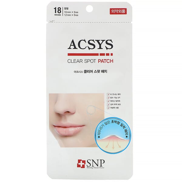 SNP, ACSYS, Clear Spot Patch, 18 Patches