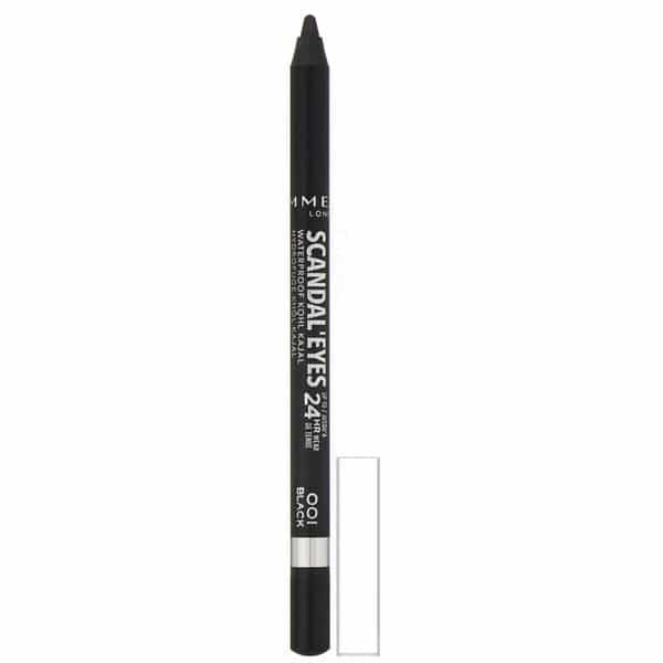 Rimmel London, Scandaleyes, 24HR Wear, Waterproof Kohl Kajal Liner, 001 Black, .04 oz (1.3 g)