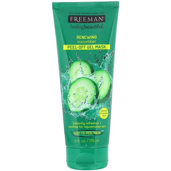 Freeman Beauty, Feeling Beautiful, Renewing Peel-Off Gel Mask, Cucumber, 6 fl oz (175 ml)