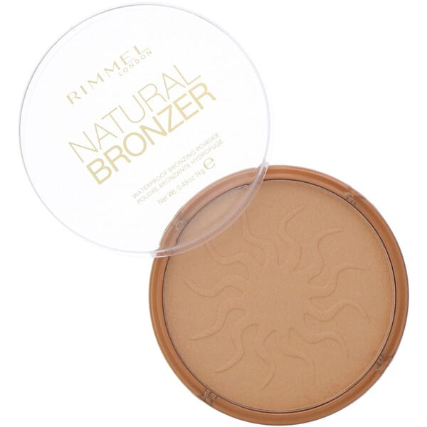 Rimmel London, Natural Bronzer, Waterproof Bronzing Powder, 021 Sun Light, 0.49 oz (14 g)