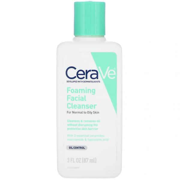 CeraVe, Foaming Facial Cleanser, 3 fl oz (87 ml)