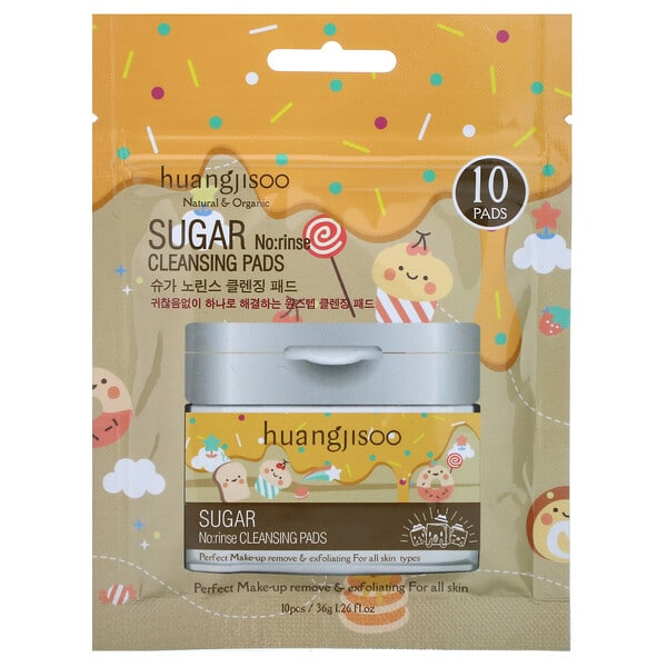 Huangjisoo, Sugar, No:rinse Cleansing Pads, 10 Pads