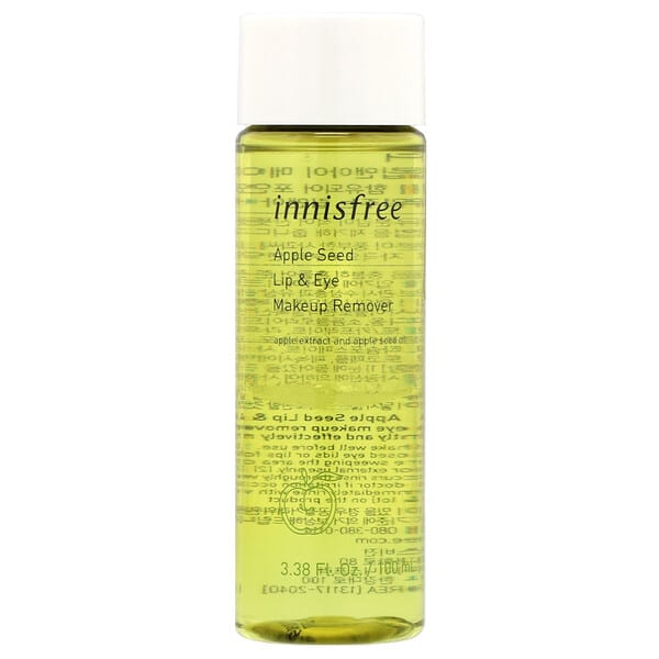 Innisfree, Apple Seed Lip & Eye Makeup Remover, 3.38 fl oz (100 ml)